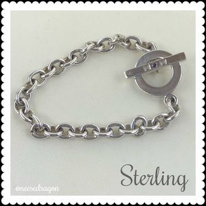 Sterling Bracelet with Toggle Clasp 925 Sterling